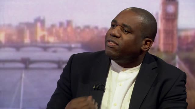 David Lammy saying politicians are using farright rhetoric for their own advantage