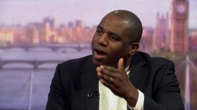 David Lammy talking about the dangers of farright politicians getting elected