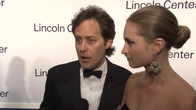 david lauren and lauren bush on the breast cancer research center in harlem on ralph lauren's contributions to fashion and on her dress and being... - lauren bush lauren stock videos & royalty-free footage