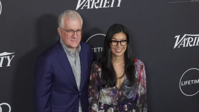 david linde and ai-jen poo at the variety's power of women: los angeles at the beverly wilshire four seasons hotel on october 12, 2018 in beverly... - フォーシーズンズホテル点の映像素材/bロール