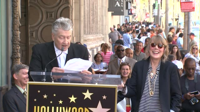 david lynch and sissy spacek at the sissy spacek to be honored with star on the hollywood walk of fame at hollywood ca. - sissy spacek stock videos & royalty-free footage