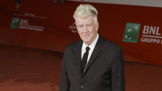david lynch at david lynch red carpet 12th rome film fest on november 04 2017 in rome italy - rome film fest stock videos and b-roll footage