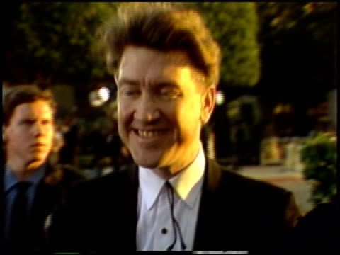 david lynch at the 1987 academy awards at dorothy chandler pavilion in los angeles california on march 30 1987 - dorothy chandler pavilion stock videos and b-roll footage