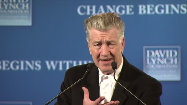 David Lynch discusses what his foundation does and why its solution of transcendental meditation works at the David Lynch Foundation's 'Change Begins...