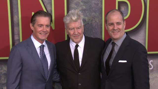 David Lynch Kyle MacLachlan and David Nevins at The World Premiere of the new Showtime LimitedEvent Series 'Twin Peaks' at Ace Hotel on May 19 2017...