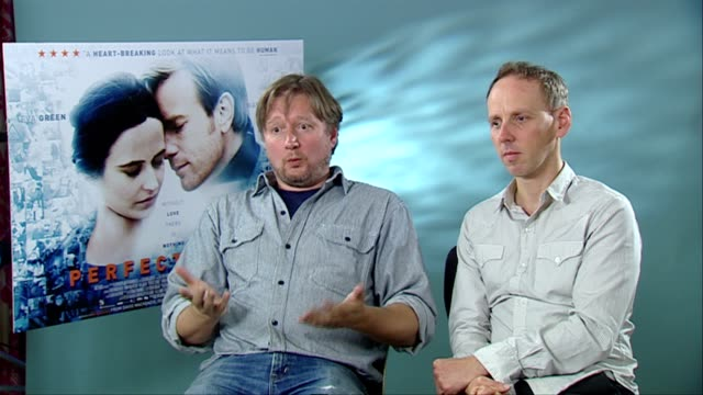 david mackenzie and ewen bremner on what he wanted the audience to experience the film and more at the perfect sense interviews at london england - ewen bremner stock videos & royalty-free footage