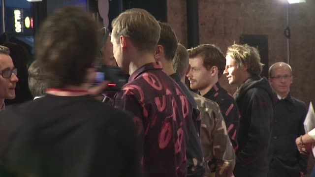 david maclean, vincent neff, jimmy dixon and tommy grace of django django at barclaycard mercury music prize 2012 at the roundhouse on november 01,... - mercury music prize stock-videos und b-roll-filmmaterial