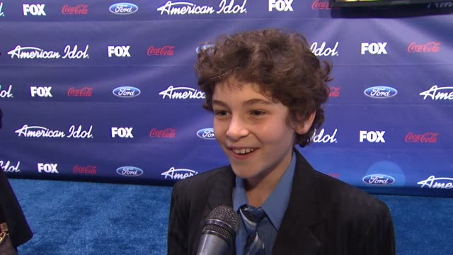 david mazouz on his character on touch at meet the american idol judges finalists on 3/1/2012 in los angeles ca - american idol stock videos and b-roll footage
