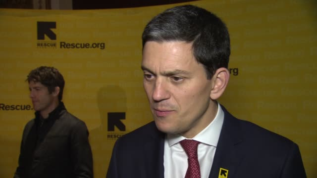 INTERVIEW David Miliband discusses why it's so important to shine a light on the work of IRC tonight his personal relationship with the plight of...