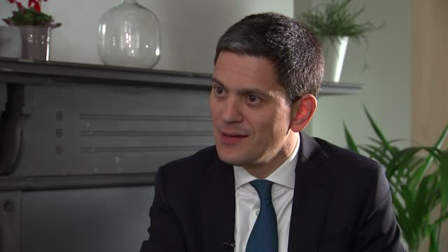 David Miliband interview David Miliband interview SOT re Zimbabwe coup family and Holocaust