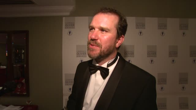 David Morrissey on what the award means to him at the Laurence Olivier Awards 2009 at London