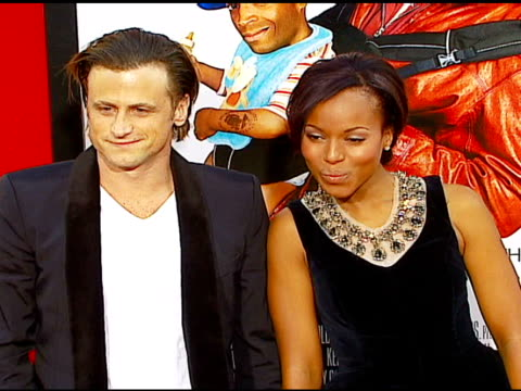 david moscow and kerry washington at the 'little man' premiere at the mann national theatre in westwood california on july 6 2006 - mann national theater stock videos & royalty-free footage