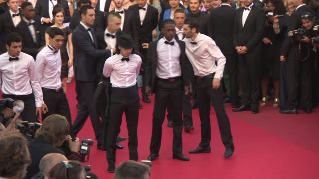 david murgia and 'germonimo' cast at 'two days one night ' red carpet at palais des festivals on may 20 2014 in cannes france - cast member stock videos & royalty-free footage