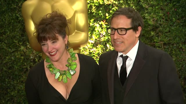 vídeos de stock, filmes e b-roll de david o. russell, holly davis at academy of motion picture arts and sciences' governors awards in hollywood, ca, on . - academy of motion picture arts and sciences