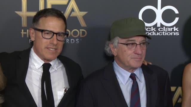 david o russell robert de niro drena de niro at 2015 hollywood film awards in los angeles ca - drena de niro stock videos & royalty-free footage
