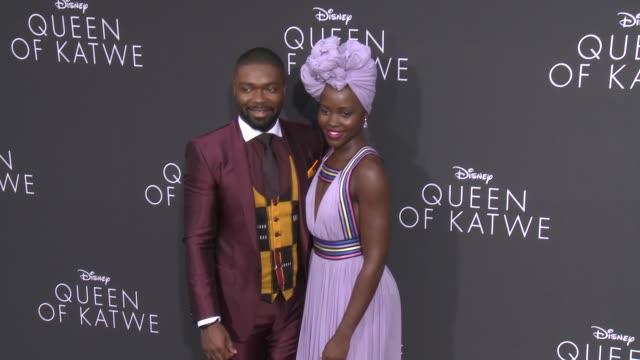 david oyelowo lupita nyong'o at queen of katwe premiere in los angeles ca - lupita nyong'o stock videos and b-roll footage
