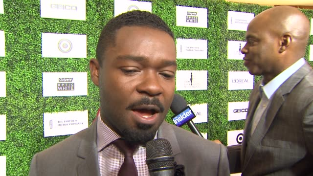 interview david oyelowo on being at the event if more movies about the black experience will be made upcoming projects at the 7th annual essence... - beverly hills hotel stock videos and b-roll footage
