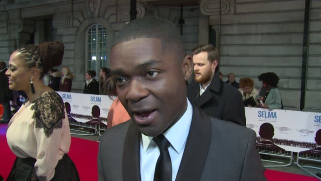 INTERVIEW David Oyelowo on working in America portraying Dr King Brad Pitt and Benedict Cumberbatch at Selma UK Film Premiere on 27th January 2015 in...