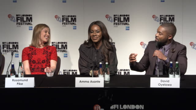 david oyelowo, rosamund pike, amma asante, jessica oyelowo his relationships with the cast and his wife, being in love, playing real love on screen,... - wife stock videos & royalty-free footage