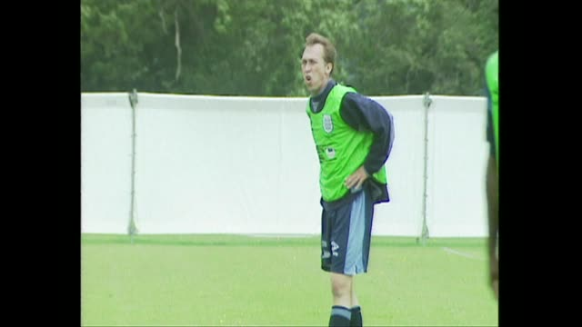 david platt training with england football team for euro 96 - 1996 stock videos & royalty-free footage