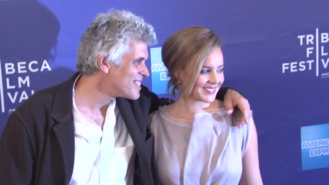 David Riker and Abbie Cornish at 'The Girl' Premiere 2012 Tribeca Film Festival at SVA Theater on April 20 2012 in New York New York