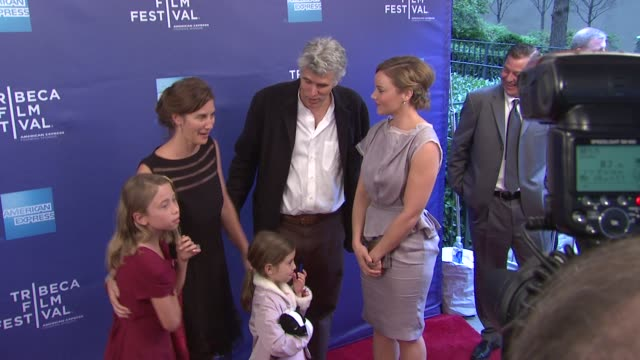 vídeos de stock, filmes e b-roll de david riker and his family with abbie cornish at 'the girl' premiere 2012 tribeca film festival at sva theater on april 20 2012 in new york new york - abbie cornish
