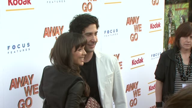 david schwimmer and guest at the 'away we go' screening at new york ny - away we go video stock e b–roll