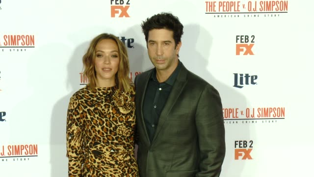 vídeos de stock e filmes b-roll de david schwimmer at fx's the people v oj simpson american crime story premiere at westwood village theatre on january 27 2016 in westwood california - westwood village
