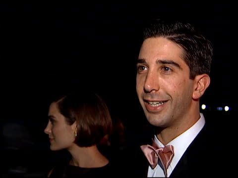 David Schwimmer at the 1995 Emmy Awards Post Event at the Pasadena Civic Auditorium in Pasadena California on September 10 1995