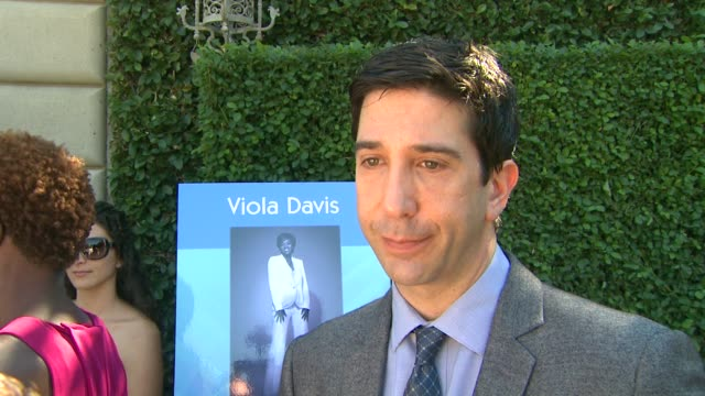 vídeos de stock, filmes e b-roll de david schwimmer on why this is a topic struck a chord for him at rape treatment center's annual fundraising brunch on 10/14/12 in beverly hills ca - chord