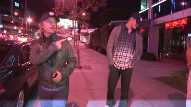 david spade & alexander ludwig at boa in west hollywood, 02/12/13 - デビッド スペード点の映像素材/bロール