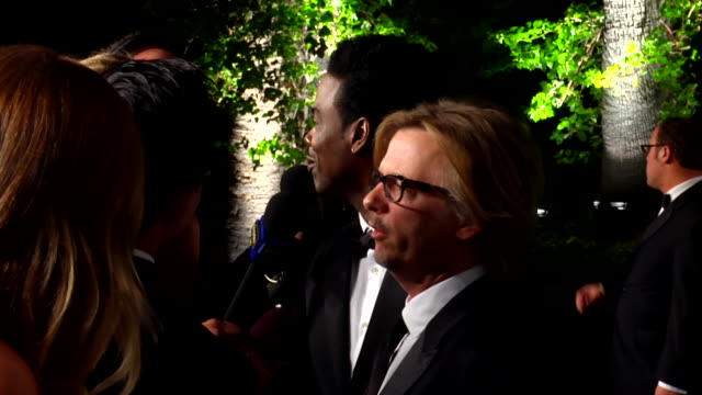 david spade and chris rock at the 2012 vanity fair oscar party hosted by graydon carter - inside party at west hollywood ca. - oscar party stock videos & royalty-free footage