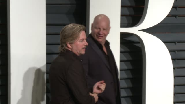 david spade and jeff ross at 2017 vanity fair oscar party hosted by graydon carter on february 26 2017 in beverly hills california - vanity fair oscar party stock videos & royalty-free footage