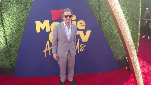 david spade at the 2019 mtv movie & tv awards - alternative views at barkar hangar on june 15, 2019 in santa monica, california. - デビッド スペード点の映像素材/bロール