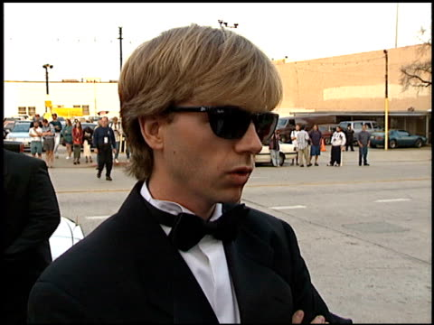 vídeos de stock e filmes b-roll de david spade at the blockbuster entertainment awards at pantages theater in hollywood, california on june 3, 1995. - pantages theater