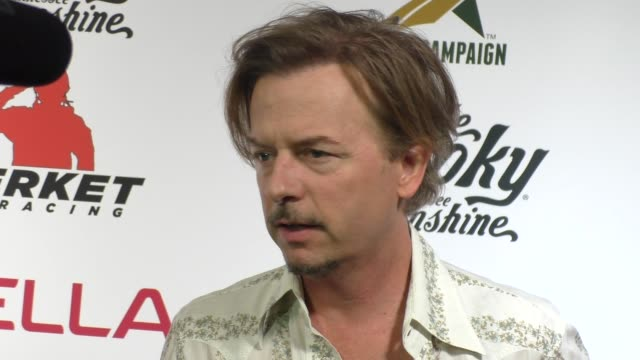 david spade at the comedy boot jam at improv comedy club in west hollywood in celebrity sightings in los angeles, - スケッチコメディー点の映像素材/bロール