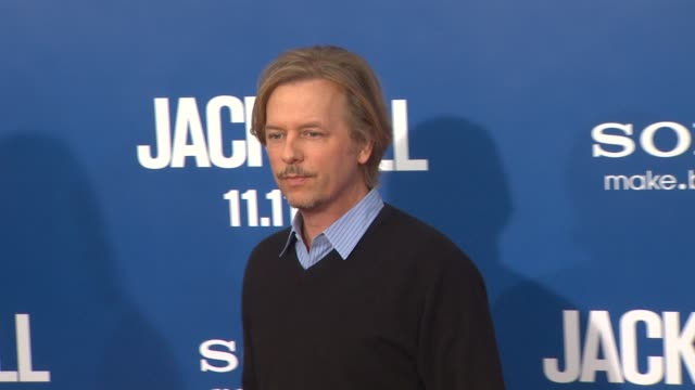 david spade at the 'jack and jill' world premiere at westwood ca - ウェストウッド地区点の映像素材/bロール