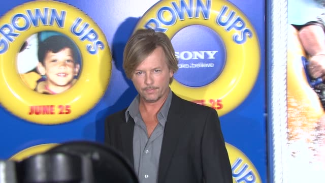 david spade at the special screening of 'grown ups' at new york ny. - デビッド スペード点の映像素材/bロール
