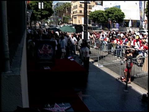 david spade walk of fame star at the dediction of david spade's walk of fame star at the hollywood walk of fame in hollywood, california on september... - デビッド スペード点の映像素材/bロール