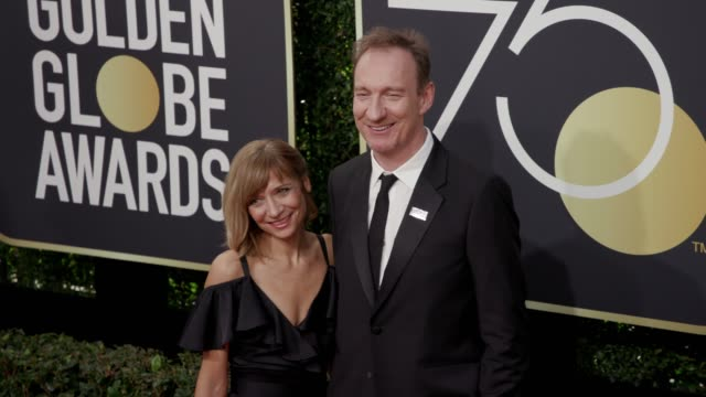 david thewlis and guest at the 75th annual golden globe awards at the beverly hilton hotel on january 07, 2018 in beverly hills, california. - the beverly hilton hotel stock videos & royalty-free footage
