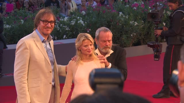 david thewlis melanie thierry terry gilliam at 'the zero theorem' red carpet on 9/2/2013 in venice italy - terry gilliam stock videos & royalty-free footage