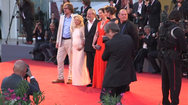 david thewlis melanie thierry terry gilliam holly gilliam amy gilliam at 'the zero theorem' red carpet on 9/2/2013 in venice italy - terry gilliam stock videos & royalty-free footage