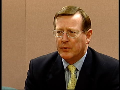 david trimble mla sits at press conference and speaking sot - did people at time of watergate say we have to wait until legal processes have been... - democratic unionist party stock videos & royalty-free footage