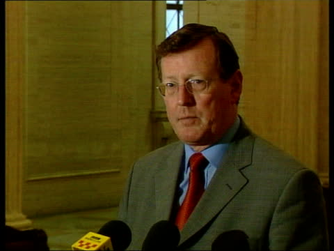 stockvideo's en b-roll-footage met david trimble mp press conference sot somewhat surprised and a little disappointed in this last minute decision by martin / he needs to explain his... - david trimble