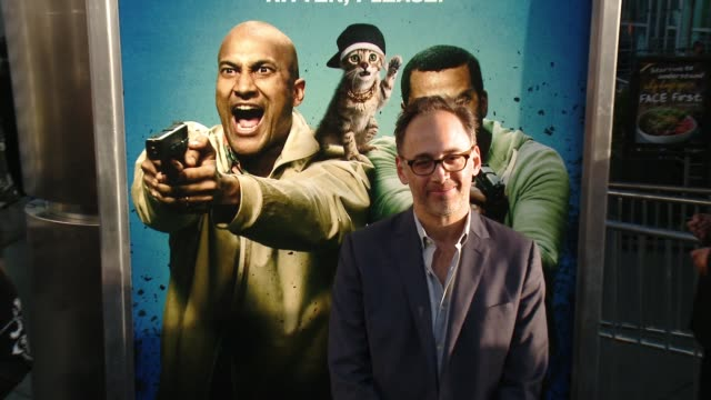 stockvideo's en b-roll-footage met david wain at keanu los angeles premiere at arclight cinemas cinerama dome on april 27 2016 in hollywood california - cinerama dome hollywood