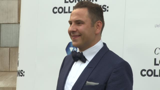 david walliams, bear grylls at london collections men: one for the boys - charity ball at natural history museum on june 15, 2014 in london, england. - the history boys stock videos & royalty-free footage