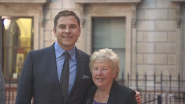vídeos de stock, filmes e b-roll de david walliams kathleen williams at the queen and the duke of edinburgh will attend an awards ceremony at the royal academy of arts at royal academy... - royal academy of arts