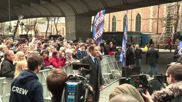 david walliams sighted outside the hammersmith apollo as the london leg of auditions for 'britain's got talent' starts sighted david walliams at the... - britain's got talent stock-videos und b-roll-filmmaterial