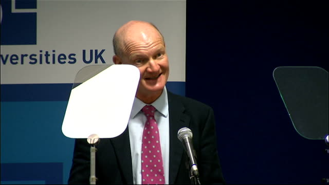 stockvideo's en b-roll-footage met david willetts speech at uuk **beware david willetts mp speech sot now this is the month when the first students will arrive at university under the... - number 9