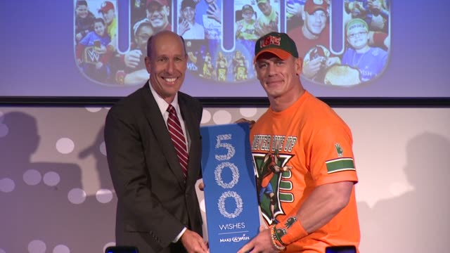 david williams and john cena at dave buster's time square on august 21 2015 in new york city - cena stock videos & royalty-free footage